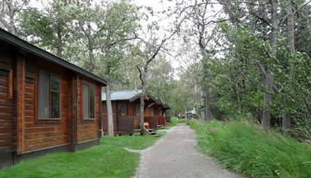 Brooks Lodge Dining Room and Cabins