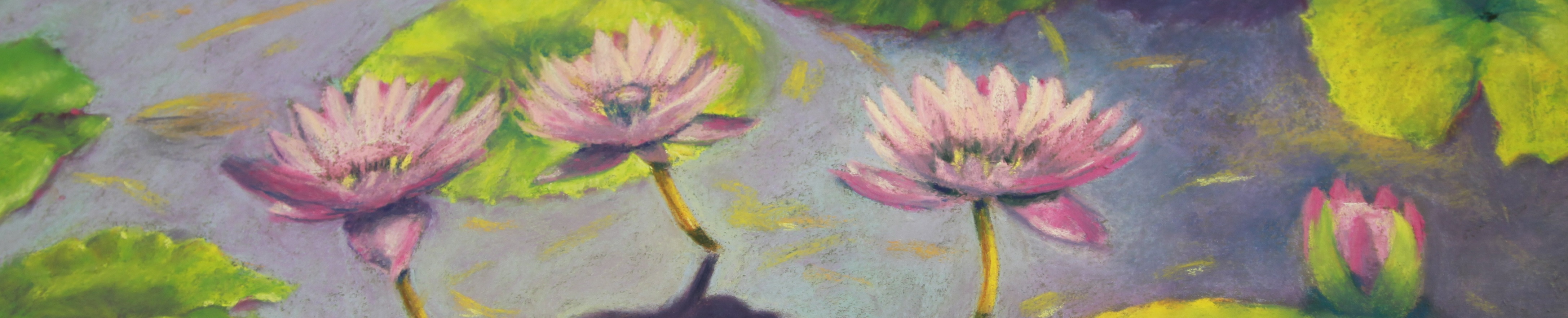 Pastel of Water Lilies