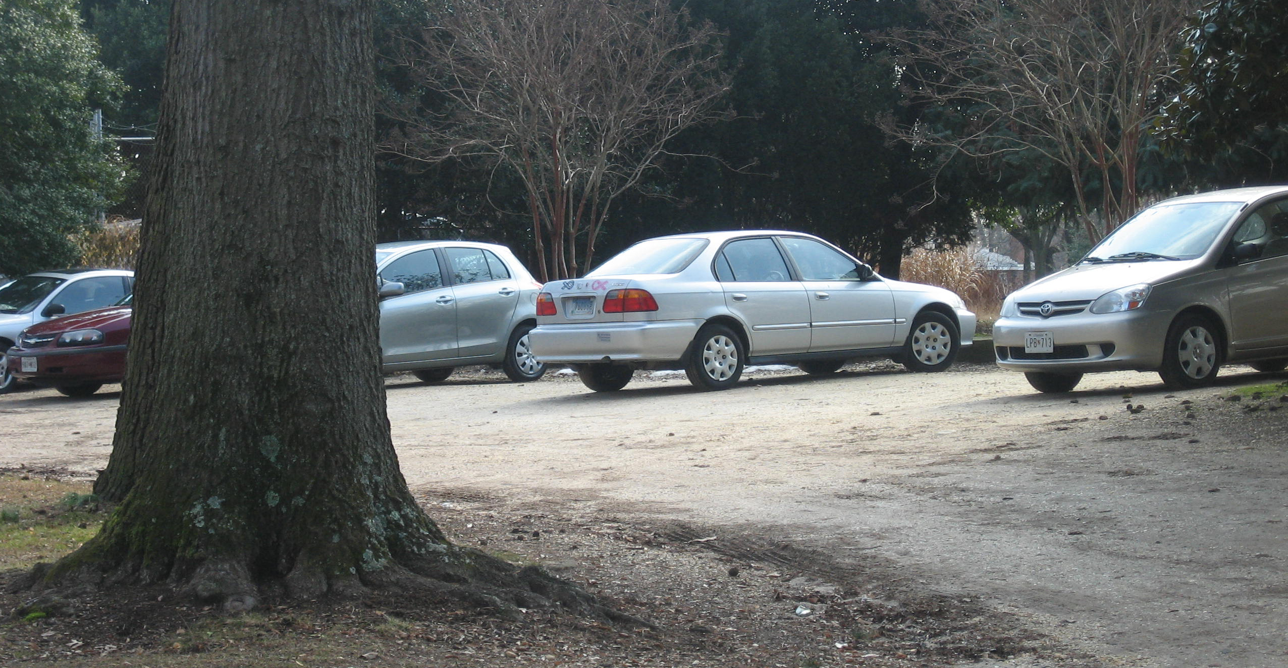 The employee lot is available some times for mobility impaired visitors.