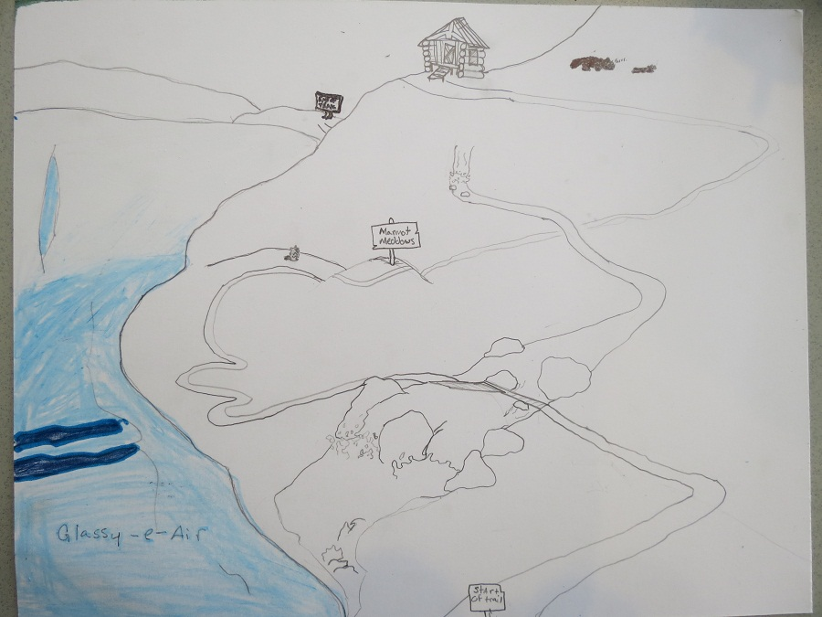 Brandon Moore's Harding Icefield Trail map