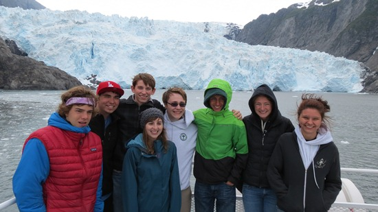 YCCs and Student-Ranger-Students in front of Holgate Glacier.