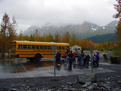 school bus at Exit Glacier