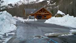 Early season conditions at Exit Glacier Nature Center