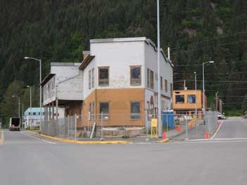 The Old Solly's building in Seward, ready for reconstruction