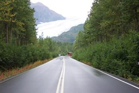 Road to Exit Glacier.