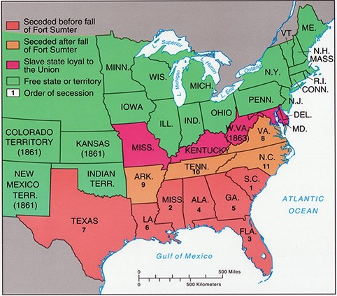 War Has Been Declared Kennesaw Mountain National Battlefield - Fort sumter on us map