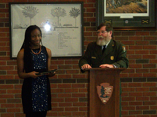 "Kennesaw Mountain High School Student receives National Park Service ""Expressions of Freedom"" award"
