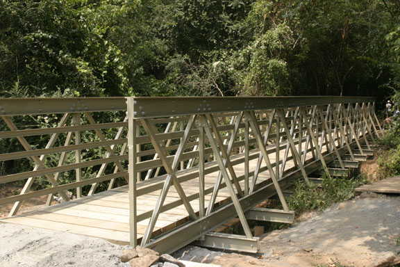 The completed bridge