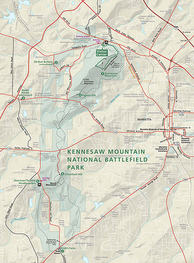 Kennesaw Mountain NBP Map