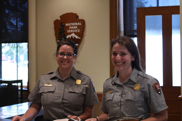 Rangers at the Calumet Visitor Center