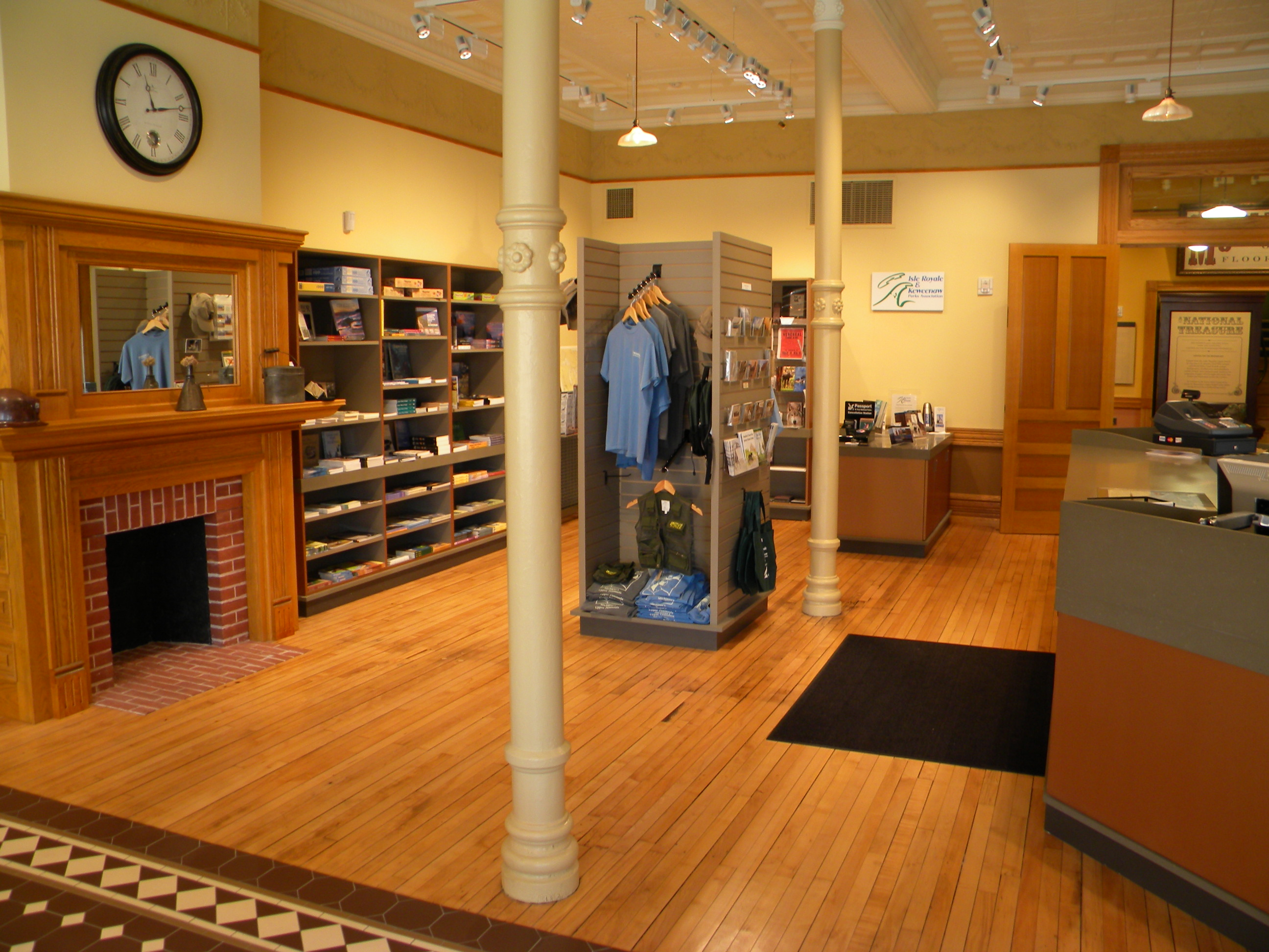 Isle Royale and Keweenaw Parks Association bookstore located at the Calumet Visitor Center.