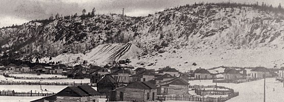 The town of Clifton and Cliff Mine in Keweenaw County in the late 1800s. Keweenaw NHP Archives, Jack Foster Collection.
