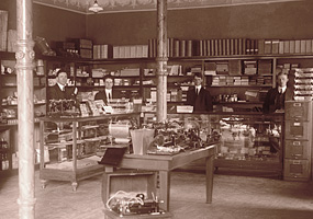 The Keweenaw Printing Company's Union Building Store was typical of business in 1915 Calumet.
