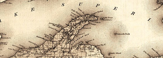 Colton's 1872 Lake Superior Map