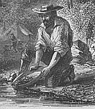 Panning on the Mokelumne From Harper's Weekly, 1860