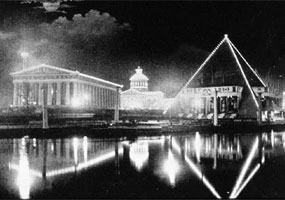 Historic photo: Extravagant displays of electric lights became a feature of public events, such as in this picture from the 1897 Tennessee Centennial Exposition.