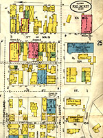 1900 Sanborn Insurance Map of Red Jacket (now Calumet)