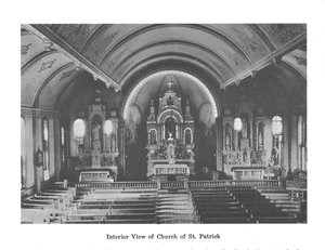 The interior of an old church.