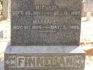 Grave Marker reading Finnegan (family last name)