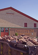 The former Calumet & Hecla Mining Company pattern shop is now home to the Coppertown Mining Museum.
