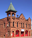 The former Red Jacket Fire Station is now home to the Upper Peninsula Firefighter's Memorial Museum.