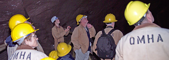 Visitors tour the Quincy Mine, one of the Keweenaw Heritage Sites.