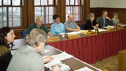 Members of the Keweenaw National Historical Park Advisory Commission discuss thoughts on the park's direction.
