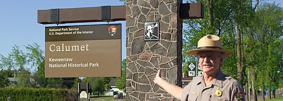 Photo: Jim Corless at new park sign revealing