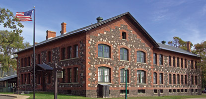 photo: The headquarters for Keweenaw National Historical Park occupies the former Calumet & Hecla general office.