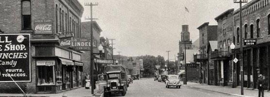 Lake Linden's Main Street in 1935.