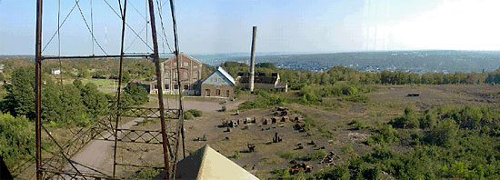 photo: Present day view from the Quincy No. 2 Shaft-Rockhouse.