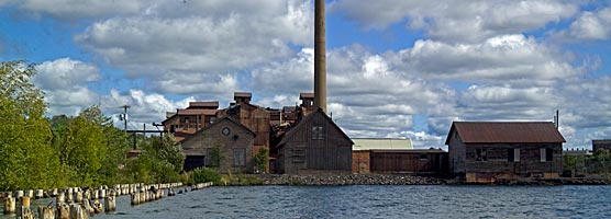 Remains of the Quincy Copper Smelting Complex on Portage Lake.