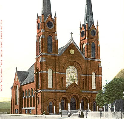 Historic postcard of St Joseph's Catholic Church.