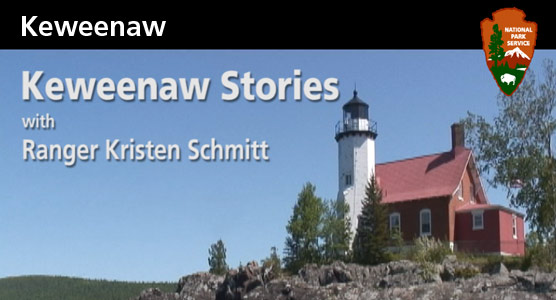 image: opening title for Keweenaw Stories program