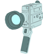 graphic of video camera