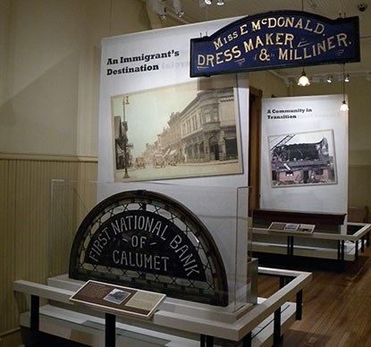 Exhibits located on first floor of visitor center.
