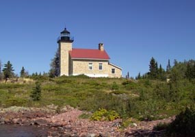 The 1866 lightouse at Copper Harbor is now part of Fort Wilkins State Park. Click here to visit their website.