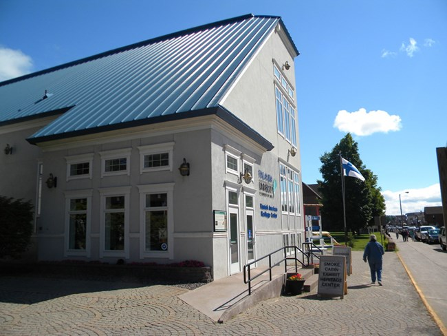 Finnish American Heritage Center in summer