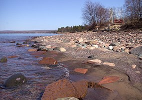 McLain State park provides access to both sandy and rocky stretches of Lake Superior shoreline.