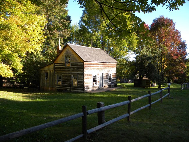 Log cabins at Old Victoria