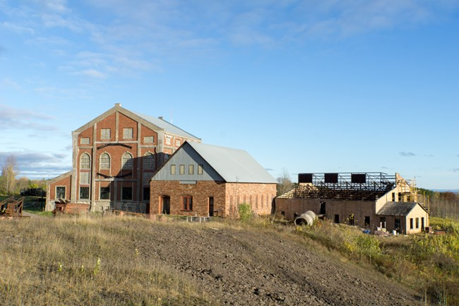 Quincy Mine Hoist Houses in fall