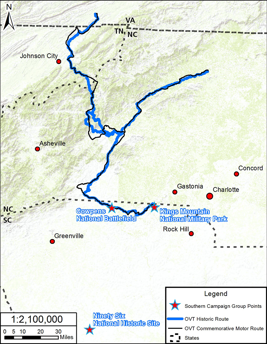 Southern Campaign Of The American Revolution Parks Group