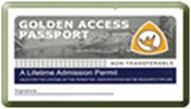 Golden Access Passport- Blue in color