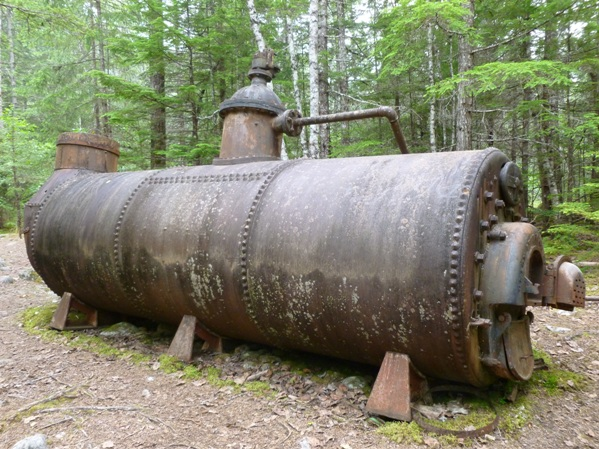 [Photo 10] The Canyon City boiler, one of the most impressive artifacts documented on the U