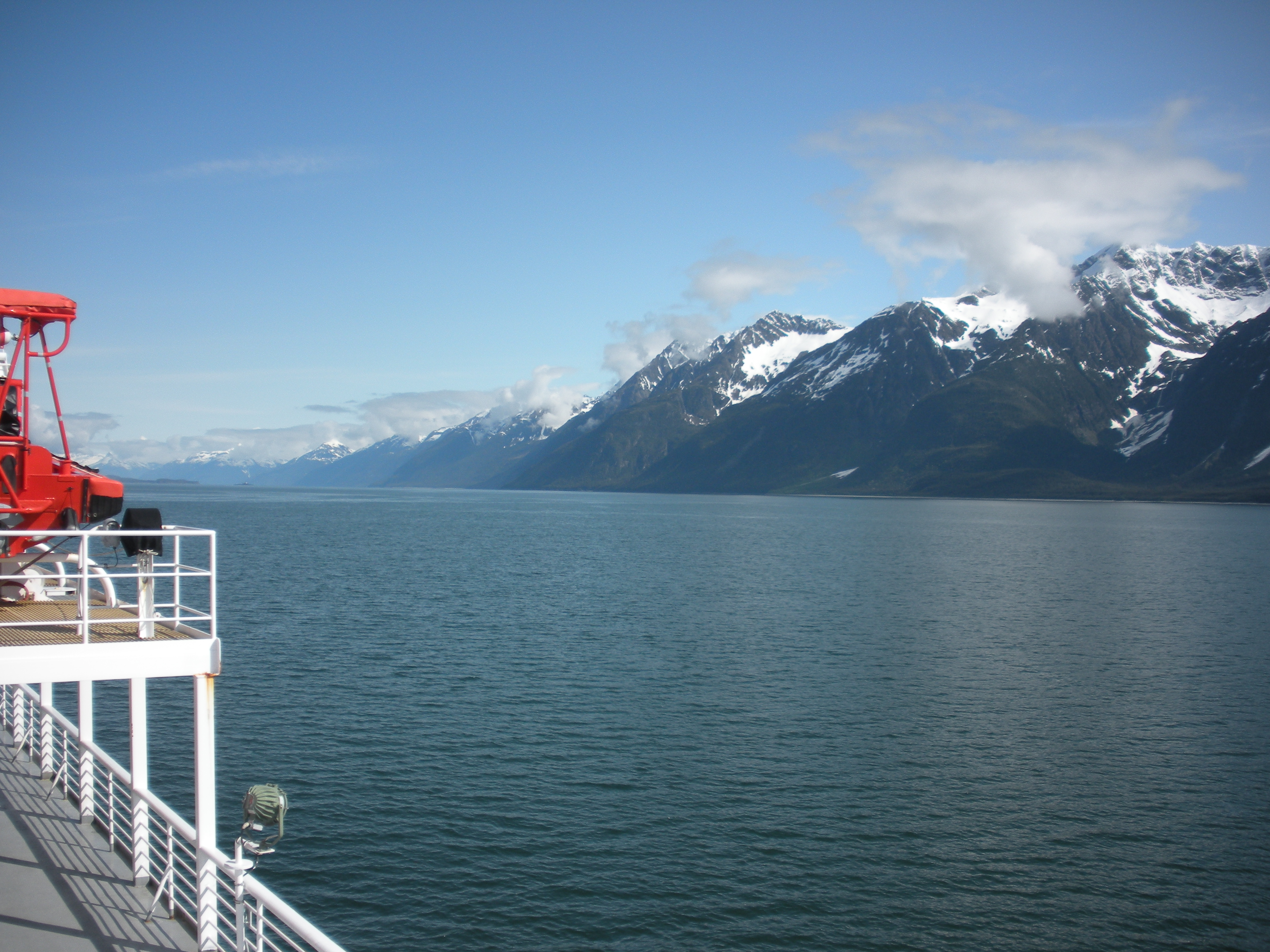 [Photo 4] A picture I took of the Lynn Canal and the surrounding mountains during our ferry ride from Juneau to Skagway