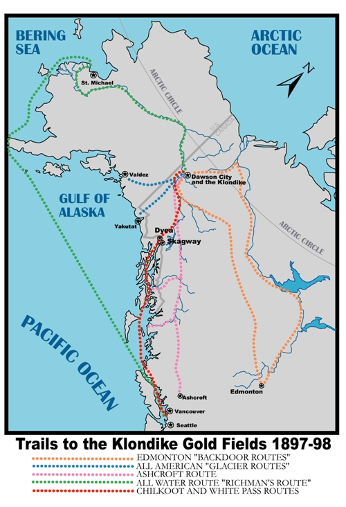 Places Klondike Gold Rush National Historical Park US - Map of gold in the us