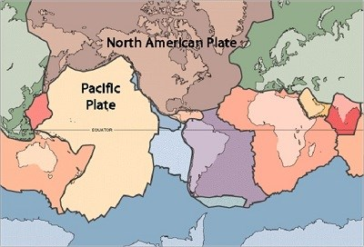 Map of the Earth's tectonic plates