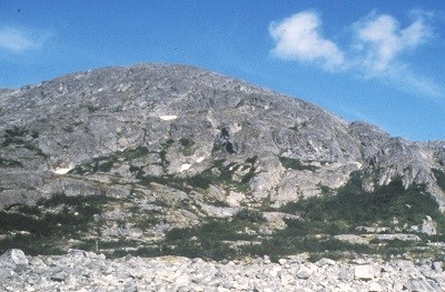 Rocky, domed mountain