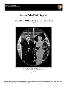 Cover of the Klondike Gold Rush State of the Parks report.