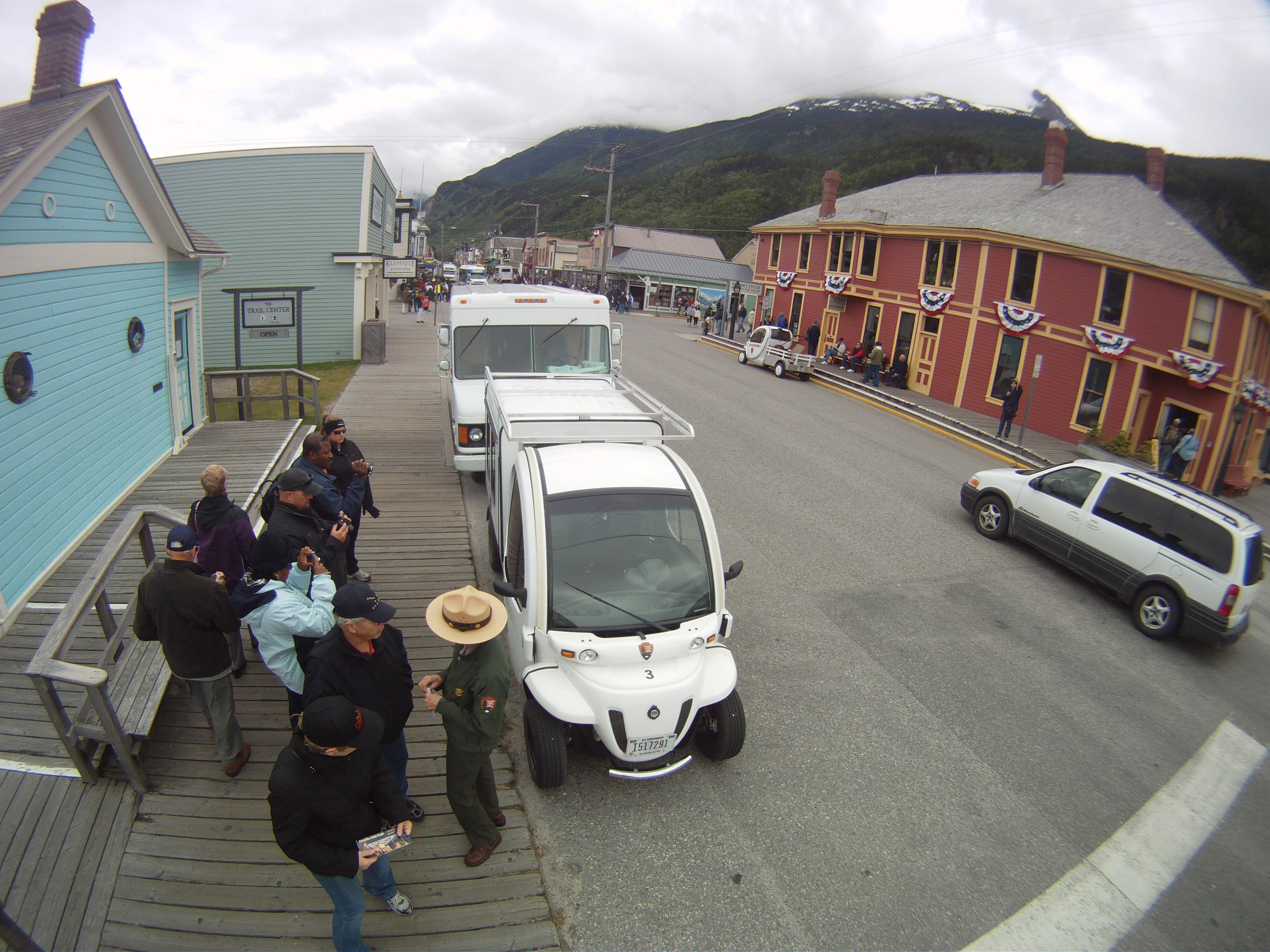 Electric Vehivles Parked in Skagway, AK